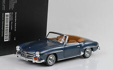 1957 Mercedes-Benz 190 SL Roadster W121 softtop blue blau metallic 1:18 Norev