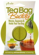 TEA BAG BUDDY SILICONE CUP COVER - KEEP HOT, SECURE, SQUEEZER & HOLDER - GREEN