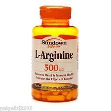 Sundown Naturals L-Arginine 500MG, 90 Capsules #44841