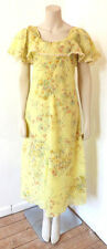 Vintage 1970s 70s Floral Handmade Midi Dress Boho UK Size 6 - 8