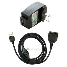 Battery Wall AC Charger+USB Cable for Sony Clie SL10 SJ20 SJ22 SJ30 SJ33 TH55