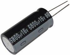 2x Condensateur électrolytique chimique 6800µF 16V THT  1000h Ø16x35.5mm radial