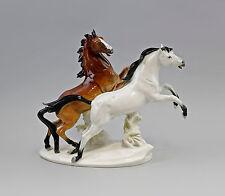 41859 Porzellan Figur Pferde-Gruppe weiß-braun Pferd