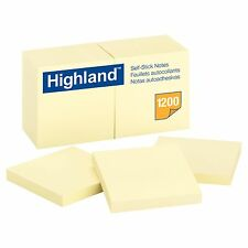 1200 SHEET 12-Pack Sticky Notes 3x3 Self-Stick Pad Yellow Lot 3M Paper Post it