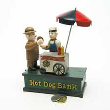 SP1831 - Hot Dog Collectors' Die Cast Iron Mechanical Coin Bank