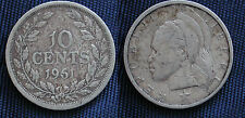 MONETA COIN MONNAIE AFRICA REPUBLIC OF LIBERIA 10 CENTS 1961 ARGENTO SILVER #2