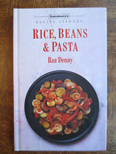 Cookery Book RICE BEANS & PASTA 1990s Sainsbury Recipe Cook Roz Denny