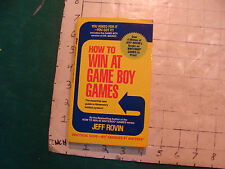vintage UNREAD; HOW TO WIN AT GAME BOY GAMES, 1991, first printing, 214pgs