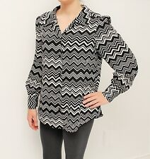 Missoni for Target Chevron Blouse Sz M in Black & White