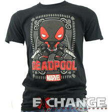 DEADPOOL (Black) Funko Pop Marvel Collectors Corps Exclusive T-SHIRT Size: Small