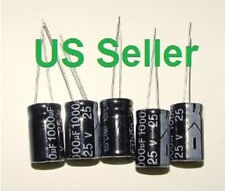 25V 1000uF 105C 10 x 17 mm Low ESR Capacitors New 5 Pcs LCD TV Monitor Use