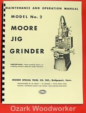 MOORE #2 Jig Grinder Maintenance & Operation Manual 0478