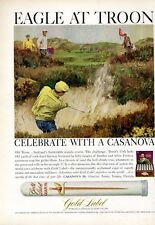 1966 Gold Label Casanova Cigars 'Old Troon' Scotlands Seaside Golf  PRINT AD