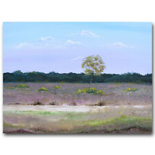 SCA ART ORIGINAL CANVAS PAINTING BY SARAH FEATHERSTONE, THE NEW FOREST HEATHLAND