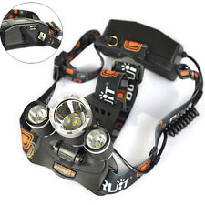 9000LM 3x XM-L L2 LED Rechargeable 18650 USB HeadLamp Headlight Torch Flashlight