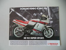 advertising Pubblicità 1986 MOTO HONDA NS 125 SUPER SPORT