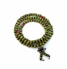 Sandalwood 108 Prayer Bead Mala Bracelet Necklace Buddhist Buddha Meditation 6mm