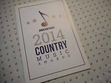 2014 ASCAP Country Music Awards Program Book Alan Jackson