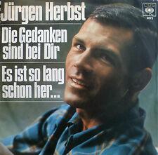 """7"""" 1968! JÜRGEN HERBST Die Gedanken sind bei Dir MINT-?"""