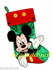 New Disney Parks Mickey Mouse Plush Holiday Christmas Stocking