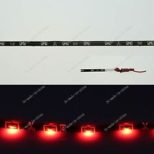 Red 30CM 1Ft 12' 15 LED Flexible Strip Side Light Lamp Waterproof DRL 12V M006