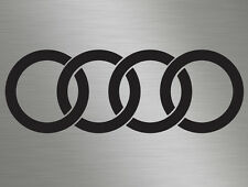 1 x Audi Rings logo Badge Car Vinyl Decals Stickers Door, Windows, Sides, Rear