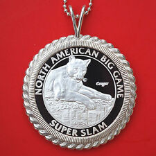 North American Hunting Club Big Game 1 oz .999 Silver Coin Necklace - Cougar