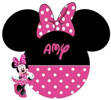 DISNEY********  MINNIE MOUSE **************PERSONALIZED T-SHIRT IRON ON TRANSFER
