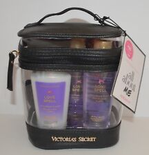 VICTORIA'S SECRET LOVE SPELL BODY LOTION FRAGRANCE MIST BODY WASH BLACK BAG COMB
