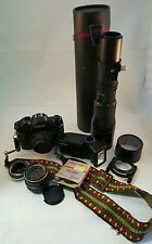 Nice Canon A-1 35mm Camera w/Lots of Extras incl. Lenses, Bag, Etc.