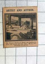 1915 Mr Francis Hopkinson Smith Artist And Author Sketching In Taxicab