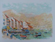 HUCHET Urbain - Saint Tropez - LIthographie originale signée #450ex