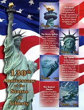 Gambia 2016 MNH Statue of Liberty 130th Anniv 4v MS New York Architecture Stamps
