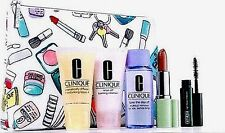 NEW! Clinique 6 PC Skincare & Makeup Gift/Travel Set, Cosmetic Bag, Sealed