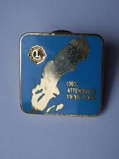 Vecchia spilla LIONS CLUBS 100% attendance 1986 1987 spilletta old pin