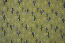 HIPSTER CACTUS DESERT UNIQUE PRINT FABRIC ON SINGLE JERSEY STRETCH MATERIAL