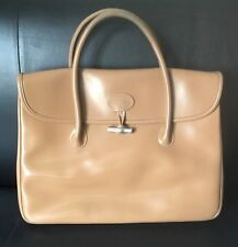 SAC Authentique   LONGCHAMP CUIR    LEATHER BAG MODELE Roseau