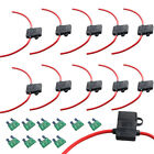 10 X 12 Ga ATC Fuse Holder Box In-Line AWG Wire Copper 12V 30A Blade Socket