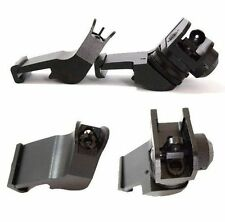 Front & Rear 45 Degree Offset BUIS Backup Iron Sight Set for Picatinny Rails