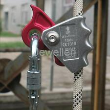 15KN Safety Rock Climbing Rope Grab Clamp Protector Fall Arrest Protection