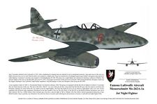 Me-262 and Ar-234 Prints, signed by the Pilots! Aviation Art, Ernie Boyette