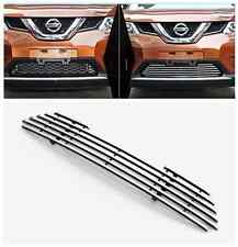 Chrome Front Down Grille Around Trim For Nissan Rogue X-Trail 2014 2015 New
