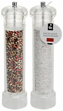 Set di 2 Grandi Acrilico Salt & Pepper Mill Set SMERIGLIATRICE PROFESSIONAL Mills 31cm