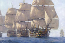 Handcrafted Ship Oil Painting on Canvas Great sailing- (no framed)