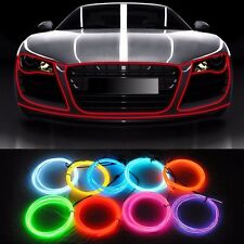 1M Car Interior LED Decor Fluorescent Neon Wire Strip Cold light Tape 12V