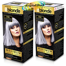 2x Jerome Russell BBlonde Steel Maximum Colour Toner 75ml Non Permanent