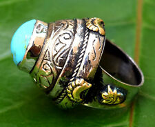 Afghan Kuchi Ring Turquoise Ethnic Tribal Antique Jewelry Bedouin Gypsy Boho