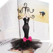 Elegant Mermaid Evening Dress Earring Mannequin Jewelry Display Organizer Stand