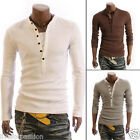 Mens Sexy Stylish Casual Formal Stretch Slim Fit T-Shirt Sweater Jumper-HS