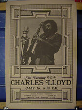 Catherine E. Weinstein CHARLES LLOYD 2 Posters & 1 Print Transparency Mint